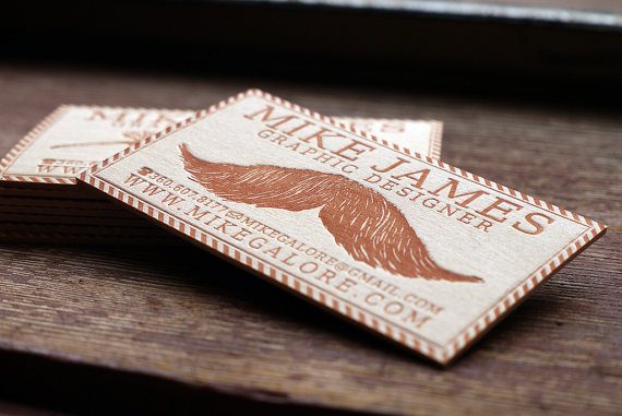 Unconventional Wooden Business Cards